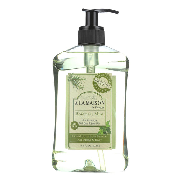 A La Maison French Liquid Soap - Rosemary Mint - 16.9 Fl Oz - Vita-Shoppe.com