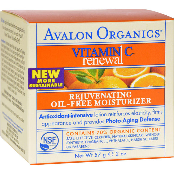 Avalon Organics Rejuvenating Oil-free Moisturizer Vitamin C - 2 Fl Oz - Vita-Shoppe.com