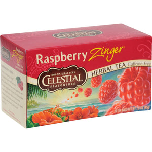 Celestial Seasonings Herbal Tea - Raspberry Zinger - 20 Bags - Vita-Shoppe.com