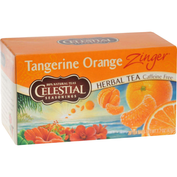 Celestial Seasonings Herbal Tea - Caffeine Free - Tangerine Orange Zinger - 20 Bags - Vita-Shoppe.com