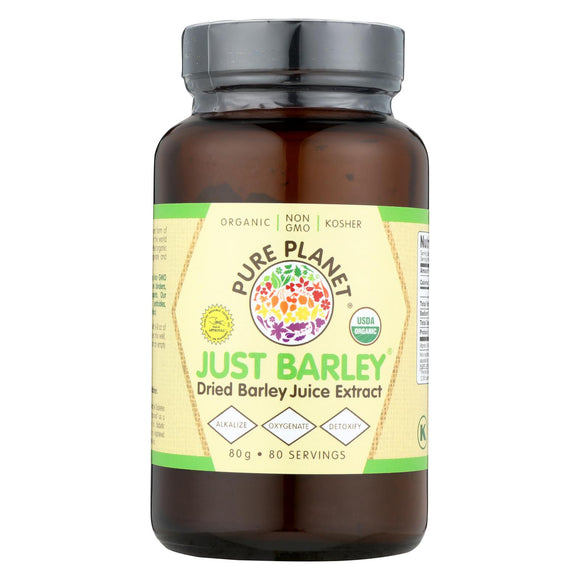 Pure Planet Just Barley Nature's Organic Nutrition Support - 2.8 Oz - Vita-Shoppe.com
