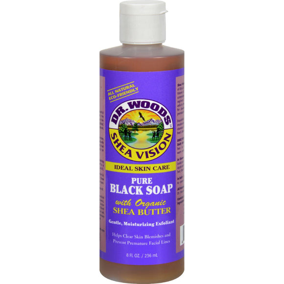 Dr. Woods Shea Vision Pure Black Soap With Organic Shea Butter - 8 Fl Oz