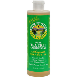 Dr. Woods Shea Vision Pure Castile Soap Tea Tree - 16 Fl Oz - Vita-Shoppe.com