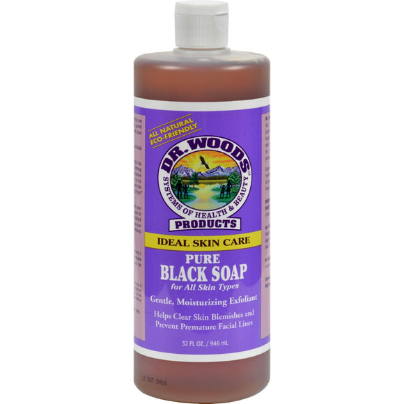 Dr. Woods Pure Black Soap - 32 Fl Oz - Vita-Shoppe.com
