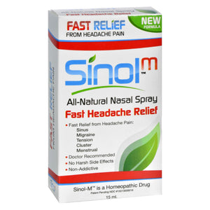 Sinol Headache Relief Nasal Spray - 15 Fl Oz - Vita-Shoppe.com