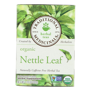 Traditional Medicinals Organic Nettle Leaf Herbal Tea - 16 Tea Bags - Case Of 6 - Vita-Shoppe.com