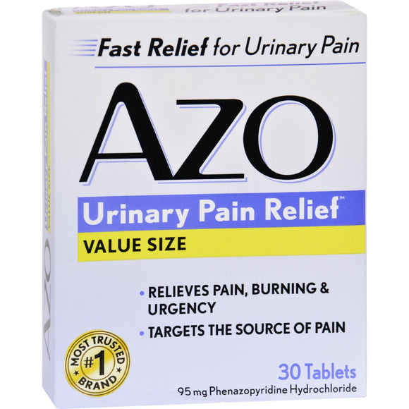 Azo Standard Urinary Pain Relief - 30 Tablets - Vita-Shoppe.com