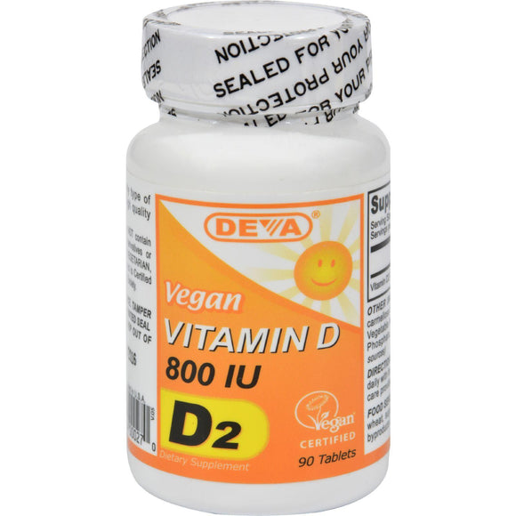 Deva Vegan Vitamin D - 800 Iu - 90 Tablets - Vita-Shoppe.com