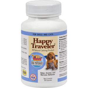 Ark Naturals Happy Traveler For Dogs And Cats - 30 Capsules