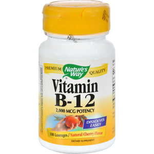Nature's Way Vitamin B-12 - 2000 Mcg - 100 Lozenges - Vita-Shoppe.com