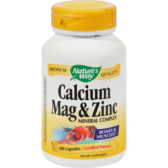Nature's Way Calcium Mag And Zinc Mineral Complex - 100 Capsules - Vita-Shoppe.com