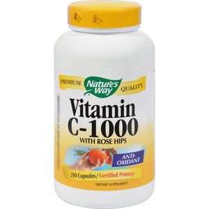 Nature's Way Vitamin C With Rose Hips - 1000 Mg - 250 Capsules - Vita-Shoppe.com
