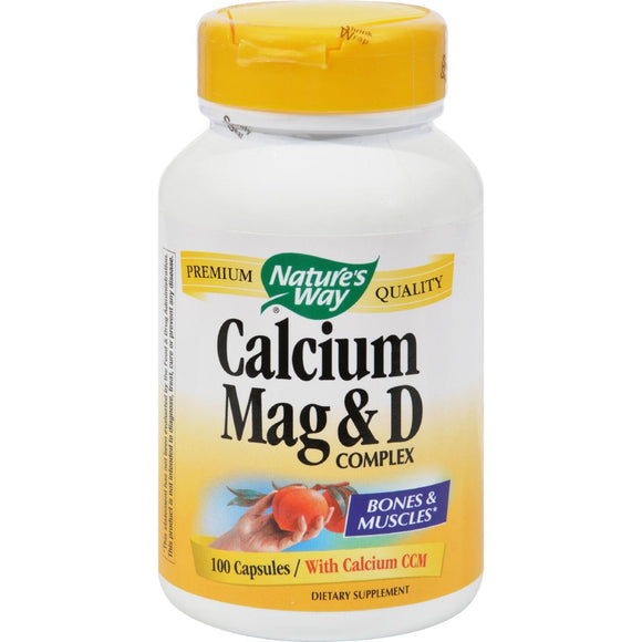 Nature's Way Calcium Mag And D Complex - 100 Capsules - Vita-Shoppe.com