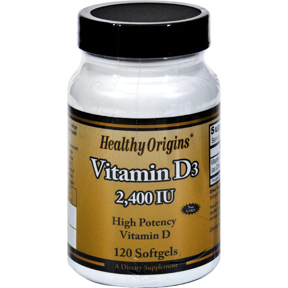 Healthy Origins Vitamin D3 - 2400 Iu - 120 Softgels - Vita-Shoppe.com