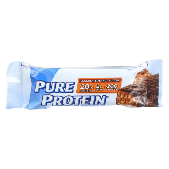 Pure Protein Bar - Peanut Butter - Case Of 6 - 50 Grams - Vita-Shoppe.com