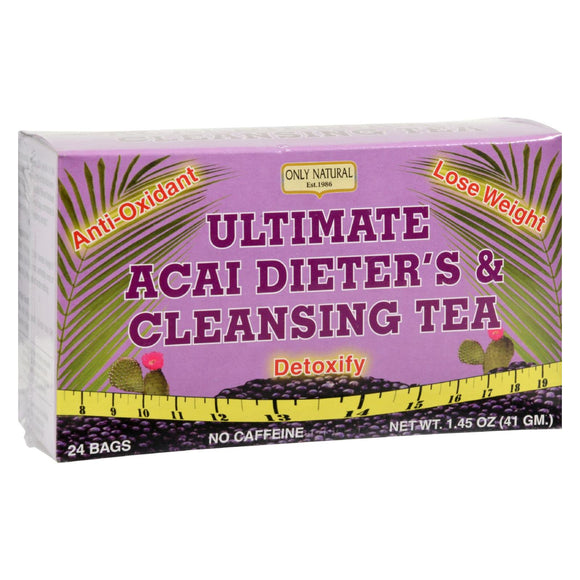 Only Natural Ultimate Acai Dieter's And Cleansing Tea - 24 Tea Bags - Vita-Shoppe.com