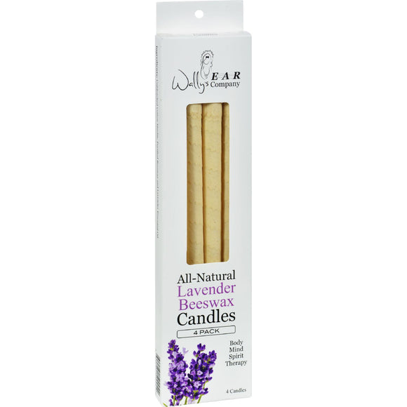 Wally's Natural Products Beeswax Candles - Lavender - 4 Pack - Vita-Shoppe.com