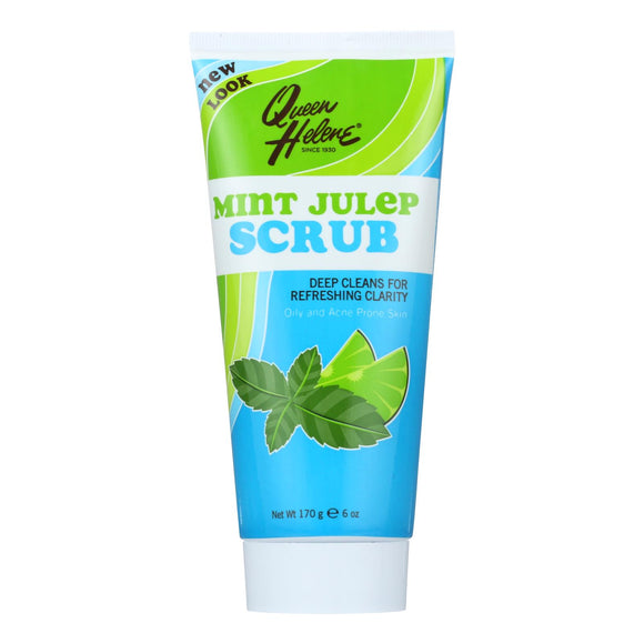 Queen Helene Refreshing Natural Facial Scrub Mint Julep - 6 Oz - Vita-Shoppe.com