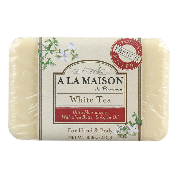 A La Maison Bar Soap - White Tea - 8.8 Oz - Vita-Shoppe.com