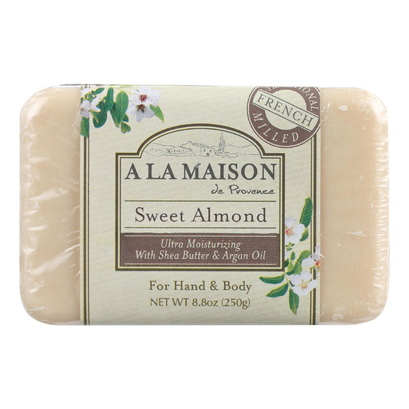 A La Maison Bar Soap - Sweet Almond - 8.8 Oz - Vita-Shoppe.com