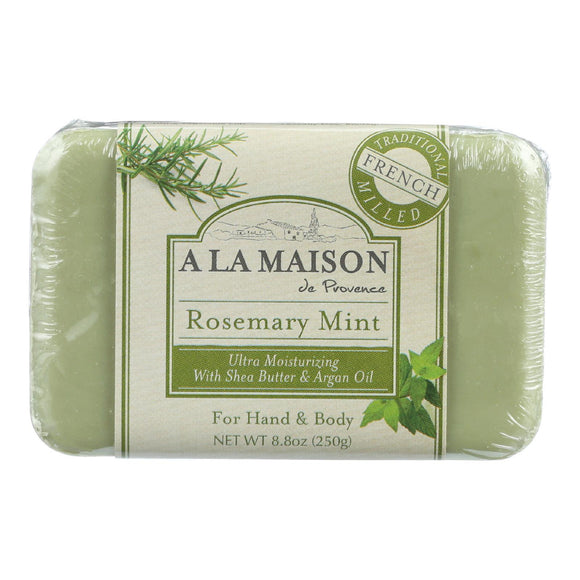 A La Maison Bar Soap - Rosemary Mint - 8.8 Oz - Vita-Shoppe.com