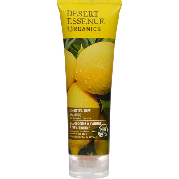 Desert Essence Shampoo Lemon Tea Tree - 8 Fl Oz - Vita-Shoppe.com