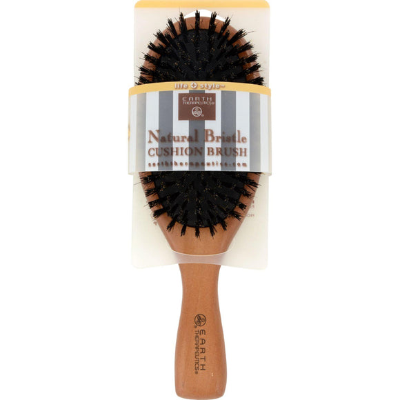 Earth Therapeutics Natural Bristle Cushion Brush - 1 Brush - Vita-Shoppe.com