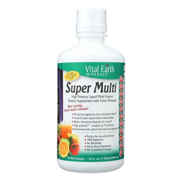 Vital Earth Minerals Super Multi Passion Fruit - 32 Fl Oz