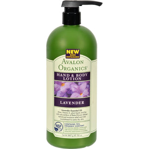 Avalon Organics Hand And Body Lotion Lavender - 32 Fl Oz