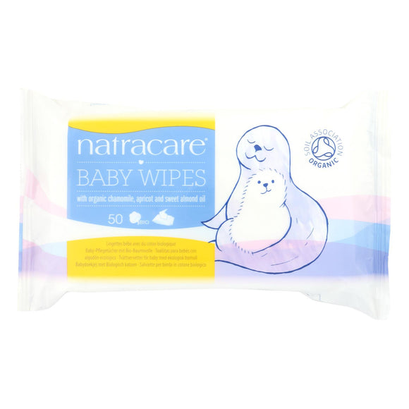 Natracare Organic Cotton Baby Wipes - 50 Pack - Vita-Shoppe.com