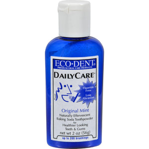 Eco-dent Toothpowder Daily Care - Mint - 2 Oz - Vita-Shoppe.com