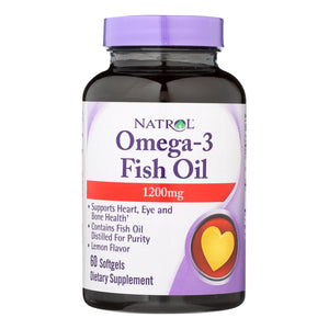 Natrol Omega-3 Fish Oil Lemon - 1200 Mg - 60 Softgels - Vita-Shoppe.com