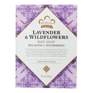 Nubian Heritage Bar Soap Lavender And Wildflowers - 5 Oz - Vita-Shoppe.com