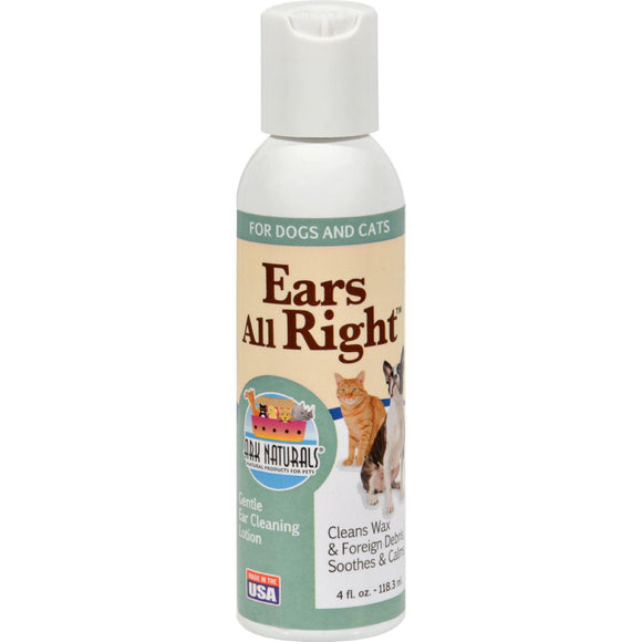 Ark Naturals Ears All Right Cleaning Lotion - 4 Fl Oz - Vita-Shoppe.com