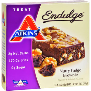 Atkins Endulge Bar Nutty Fudge Brownie - 5 Bars - Vita-Shoppe.com