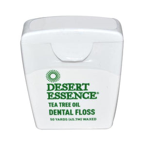 Desert Essence Dental Floss Tea Tree Oil - 50 Yds - Case Of 6 - Vita-Shoppe.com