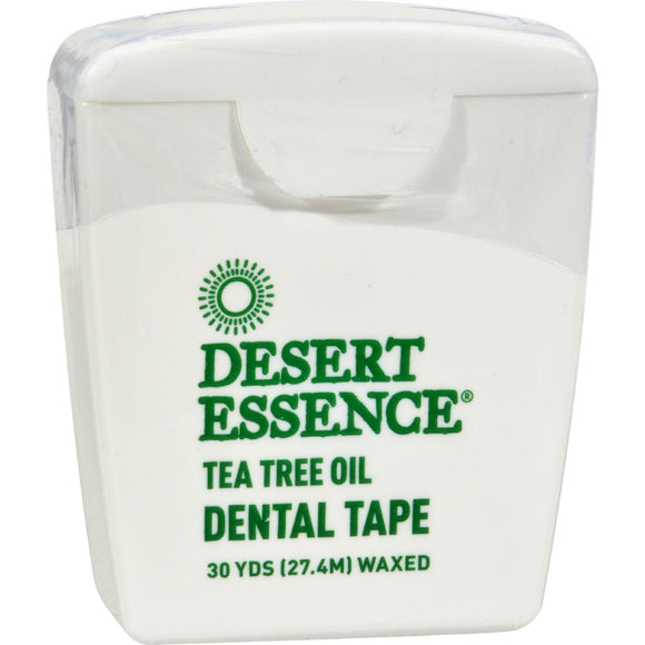 Desert Essence Tea Tree Oil Dental Tape - 30 Yds - Case Of 6 - Vita-Shoppe.com