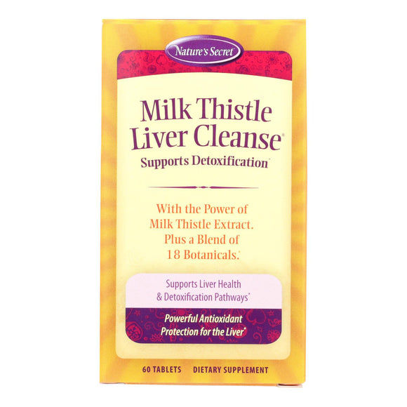 Nature's Secret Milk Thistle Liver Cleanse - 60 Tablets - Vita-Shoppe.com