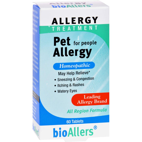 Bio-allers Pet Allergy Treatment For People - 60 Tablets - Vita-Shoppe.com