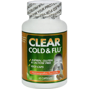 Clear Products Clear Cold And Flu - 60 Capsules - Vita-Shoppe.com