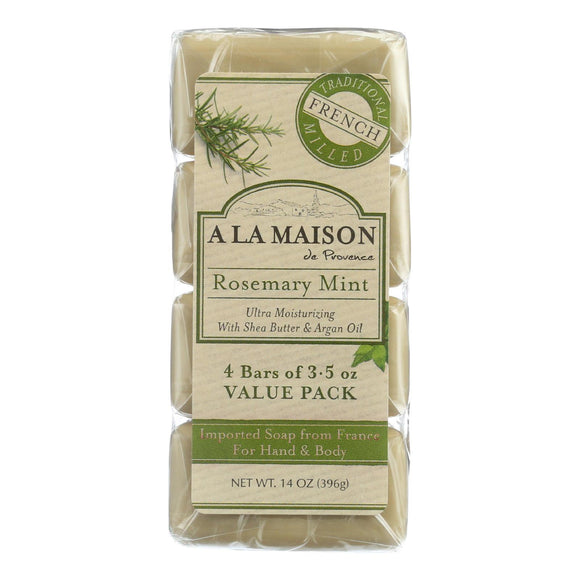 A La Maison Bar Soap - Rosemary Mint - Value 4 Pack - Vita-Shoppe.com