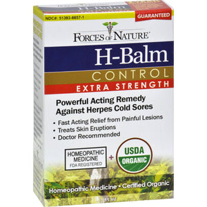 Forces Of Nature Organic H-balm Daily Control - Extra Strength - 11 Ml - Vita-Shoppe.com