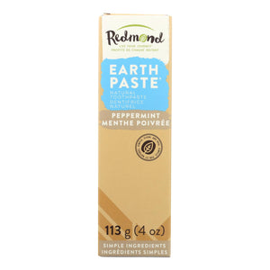 Redmond Trading Company Earthpaste Natural Toothpaste Peppermint - 4 Oz - Vita-Shoppe.com