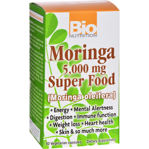 Bio Nutrition Moringa 5,000 Mg Super Food - 60 Vegetable Capsules - Vita-Shoppe.com