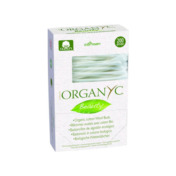 Organyc Beauty Cotton Swabs - 200 Pack - Vita-Shoppe.com