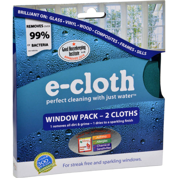 E-cloth Window Cleaning Cloth - 2 Pack - Vita-Shoppe.com