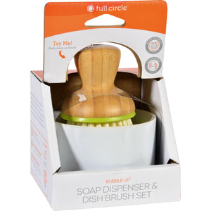 Full Circle Home Bubble Up Brush Plus Soap Dish- White - Case Of 4 - Vita-Shoppe.com
