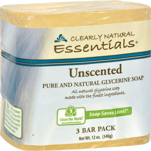 Clearly Natural Bar Soap - Unscented - 3 Pack - 4 Oz - Vita-Shoppe.com