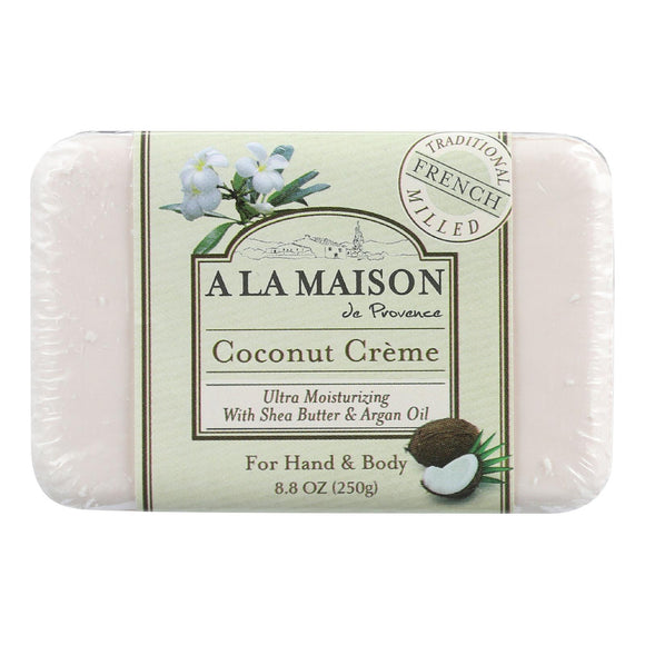 A La Maison Bar Soap - Coconut Creme - 8.8 Oz - Vita-Shoppe.com