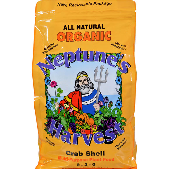 Neptune's Harvest Crab Shell Fertilizer - Orange Label - 4 Lb - Vita-Shoppe.com